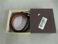 Tommy Hilfiger Men's Reversible Belt, Black/Tan,