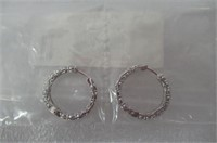 Sterling Silver Cubic Zirconia All-Around Hoop