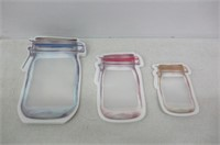 Reusable Hinged Jar Zipper Bags