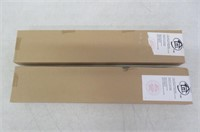 (2) 1-Inch PVC Light Filtering Blinds, 20-Inch x