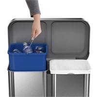 Simplehuman Rectangular Dual Bucket Trash