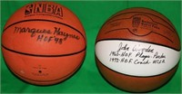 LOT OF TWO HALL OF FAME AUTOGRAPHED BASKETBALLS