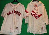 LOT OF 2 REPLICA COOPERSTOWN COLLECTION JERSEYS