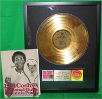 BILL COSBY LOT TO INCLUDE A FRAMED GOLD RECORD