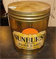 Sunburst Lard Can
