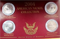 2004 American Nickels (all the same) 2 Peace Medal, 2 Lewis & Clark (picture 2 -close -up)