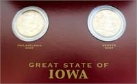 2-State of Iowa 2004 Quarters