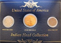 US Indian Head Collection (Cent, Nickel, Dollar)