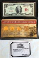 2004 Lewis & Clark Bicentennial Collection (4 coins & $2 bill)