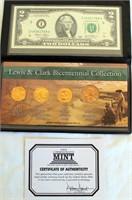2005 Lewis & Clark Bicentennial Collection (4 coins & $2 bill)