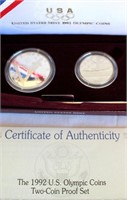 1992 US Mint Olympic Coins (2-coin proof set)
