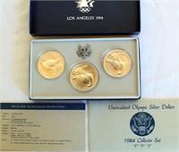 1984 Uncirculated LA Olympic Dollar Collector Set