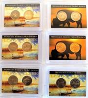 3 Sets - 2005 Westward Journey Lewis & Clark Nickels (2 coins per set); 3 Sets- 2005 Westward Journey Nickels (2 coins per set)
