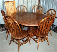 Table w/ 6-Chairs & 2-Leaves