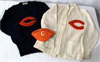 "2- Vintage ""Chicago"" Sweaters & Cap"