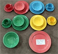 22 Pc Homer Laughlin Harlequin Dinnerware
