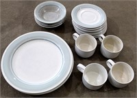 "4- Serving Stoneware Set ""Blue Mist"""