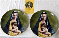 "2- 1978 Collector Plates ""Tenderness"" by Clarence Thorpe #1045/5000 & #1097/5000"