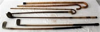 Old Walking Canes/Stick, Golf Clubs