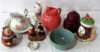 Misc Glassware, Picture & Bowl, Crock Bowl, etc