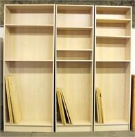3- Tall Book Shelves