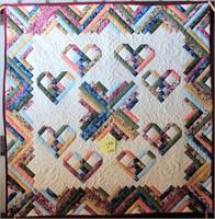 "Small Handmade Quilt, 44""x44"""
