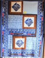 "Small Handmade Quilt, 55""x71"""