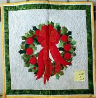 "Small Handmade Quilt, 27""x27"""