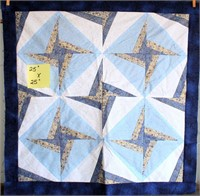 """Small Handmade Quilt Topper (not finished) 25""""x25"""""""