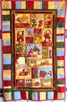 """Small Handmade Quilt, Flannel 29""""x46"""""""