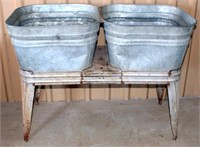 Double Wash Tub on Stand