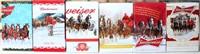 """Budweiser """"Holiday"""" Beer Steins, 2009 thru 2014"""