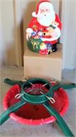 Santa Cookie Jar, Tree Stand