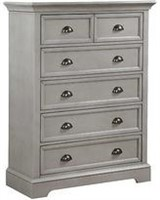 """Winners Only BT61007 41"""" 6-Drawer Chest - Gray"""