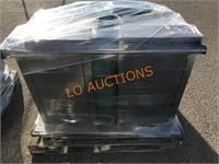2pc SS Lakeside Tray Carts w/ Trays