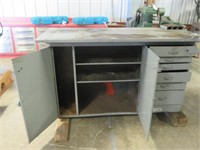 """5' 6"""" Metal Welding Table with Vise"""