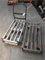 2 aluminum flat carts