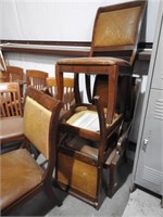2 tables and a lot of chairs
