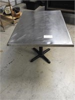 stainless top table