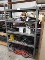 steel shelf unit no contents