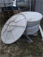 pallet of satellite dishes