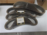 lot of sanding paper and belts