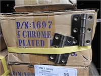 """900- 2 1/2 """"  chrome plated hinges"""