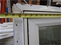 2 fixed glass vinyl windows haberdashery stickers