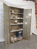 metal grizzly shop cabinet and contents (no dolly)