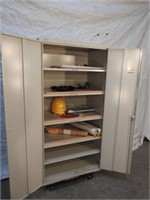 hon metal cabinet and contents (no dolly)