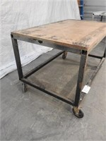 rolling shop table