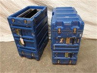 2 blue hardigg transport cases