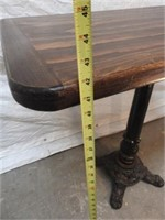 1 cast iron base bar table