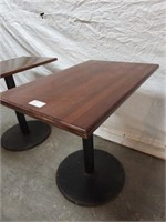 2 bar tables wood tops